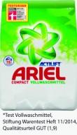 Sauber gemacht: Ariel Actilift Compact ist Testsieger bei Stiftung Warentest!