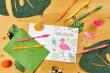 Mit bunten Neonfarben sommerliche Einladungskarten selbst gestalten